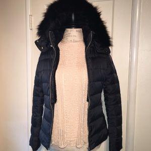 Zara Hooded Faux Fur Puffer Winter Jacket